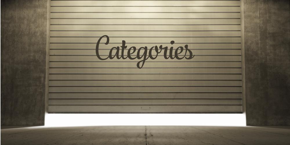 Garage door categories